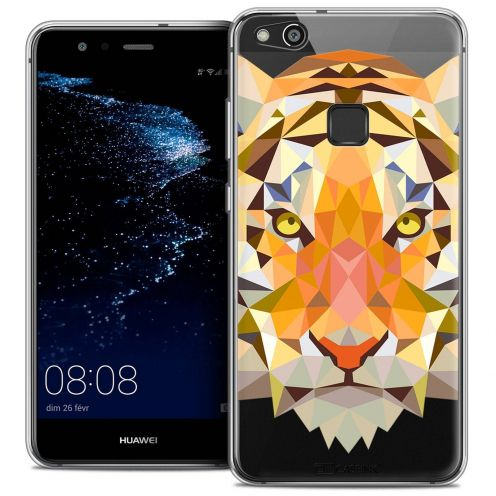 "Coque Crystal Gel Huawei P10 LITE (5.2"") Extra Fine Polygon Animals - Tigre"