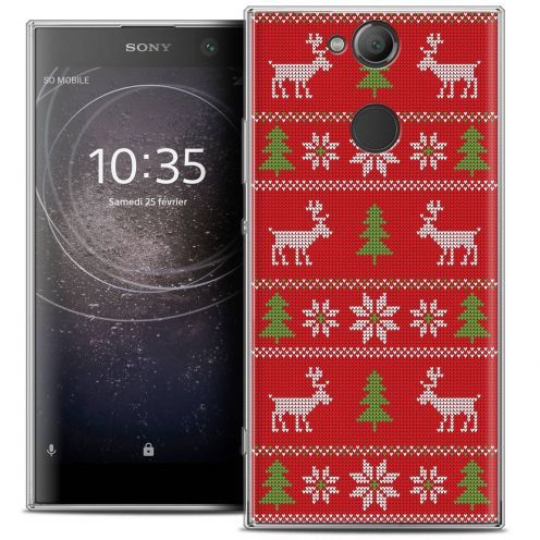 "Coque Crystal Gel Sony Xperia XA2 (5.2"") Extra Fine Noël 2017 - Couture Rouge"