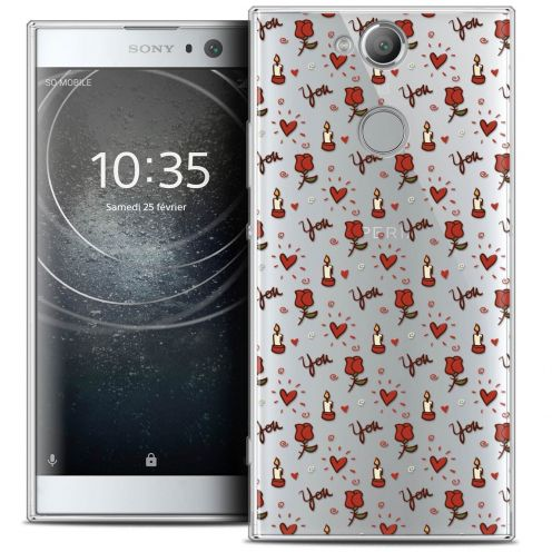 """Coque Crystal Gel Sony Xperia XA2 (5.2"""") Extra Fine Love - Bougies et Roses"""