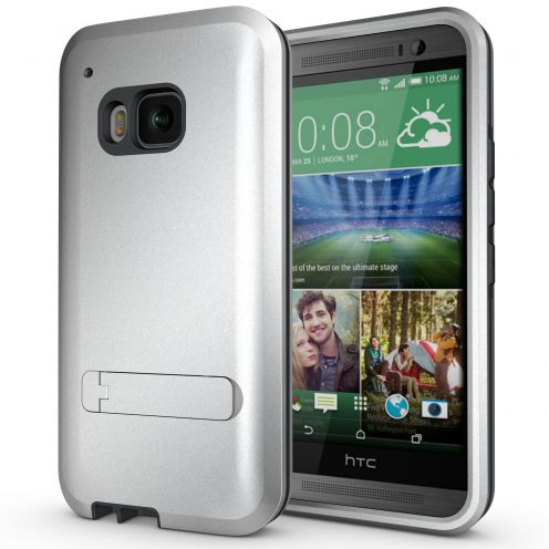 Armor Defender 3 HTC One M9 Shockproof Case - Steel Grey