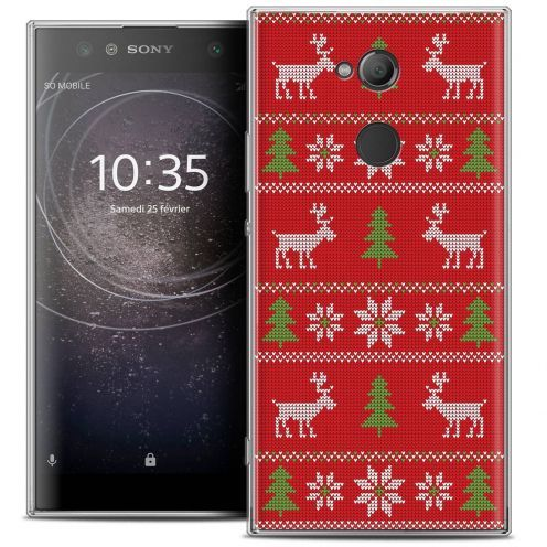 """Coque Crystal Gel Sony Xperia XA2 ULTRA (6"""") Extra Fine Noël 2017 - Couture Rouge"""