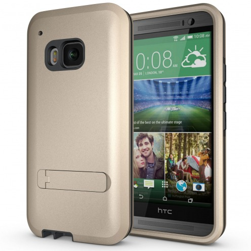 Armor Defender 3 HTC One M9 Shockproof Case - Gold Champagne