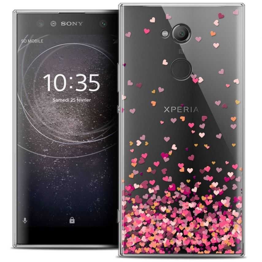 "Coque Crystal Gel Sony Xperia XA2 ULTRA (6"") Extra Fine Sweetie - Heart Flakes"