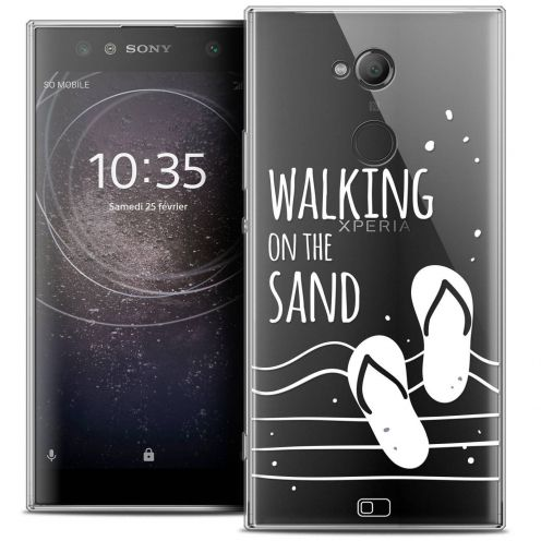 "Extra Slim Crystal Gel Sony Xperia XA2 ULTRA (6"") Case Summer Walking on the Sand"