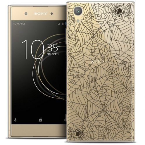 "Coque Crystal Gel Sony Xperia XA1 PLUS (5.5"") Extra Fine Halloween - Spooky Spider"
