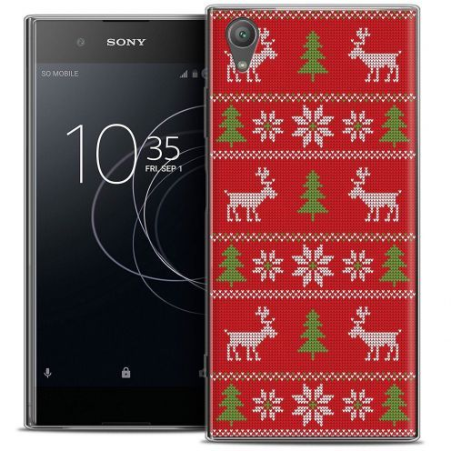 "Coque Crystal Gel Sony Xperia XA1 PLUS (5.5"") Extra Fine Noël 2017 - Couture Rouge"