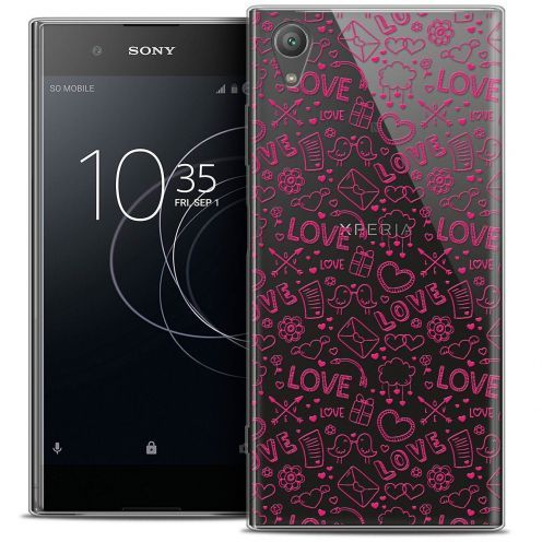 "Coque Crystal Gel Sony Xperia XA1 PLUS (5.5"") Extra Fine Love - Doodle"