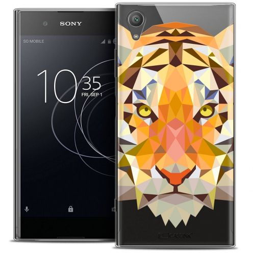 "Coque Crystal Gel Sony Xperia XA1 PLUS (5.5"") Extra Fine Polygon Animals - Tigre"
