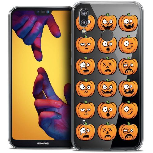 "Coque Crystal Gel Huawei P20 LITE (5.84"") Extra Fine Halloween - Cartoon Citrouille"