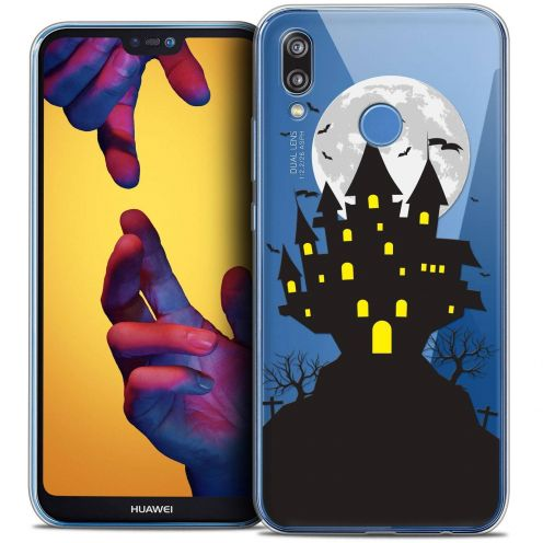 "Coque Crystal Gel Huawei P20 LITE (5.84"") Extra Fine Halloween - Castle Scream"