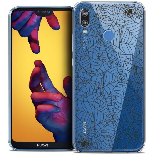 "Coque Crystal Gel Huawei P20 LITE (5.84"") Extra Fine Halloween - Spooky Spider"