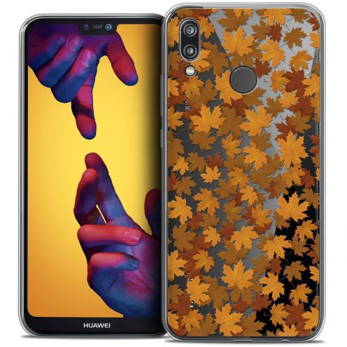 "Coque Crystal Gel Huawei P20 LITE (5.84"") Extra Fine Autumn 16 - Feuilles"