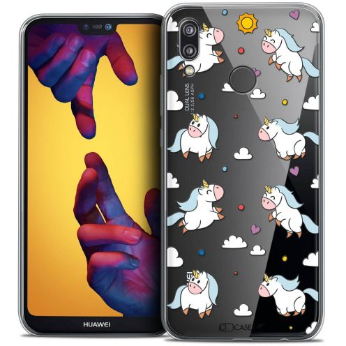 "Coque Crystal Gel Huawei P20 LITE (5.84"") Extra Fine Fantasia - Licorne In the Sky"