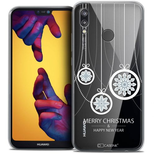 "Coque Crystal Gel Huawei P20 LITE (5.84"") Extra Fine Noël 2017 - Christmas Balls"