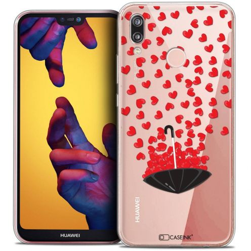 "Coque Crystal Gel Huawei P20 LITE (5.84"") Extra Fine Love - Parapluie d'Amour"
