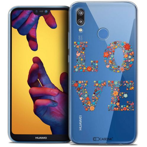"Coque Crystal Gel Huawei P20 LITE (5.84"") Extra Fine Summer - Love Flowers"