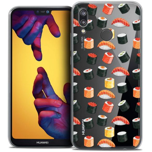 "Coque Crystal Gel Huawei P20 LITE (5.84"") Extra Fine Foodie - Sushi"
