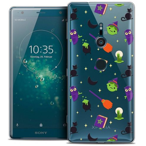 "Extra Slim Crystal Gel Sony Xperia XZ2 (5.7"") Case Halloween Witch Potter"