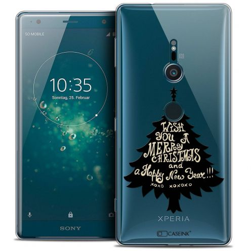 "Extra Slim Crystal Gel Sony Xperia XZ2 (5.7"") Case Noël 2017 XOXO Tree"