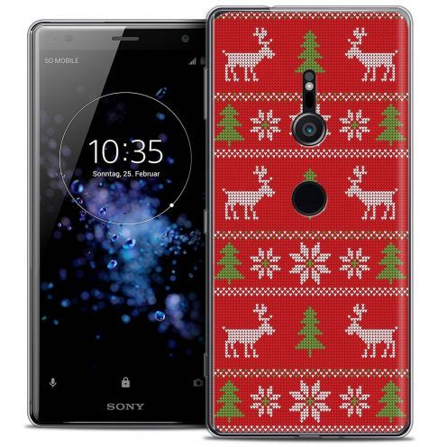 """Coque Crystal Gel Sony Xperia XZ2 (5.7"""") Extra Fine Noël 2017 - Couture Rouge"""