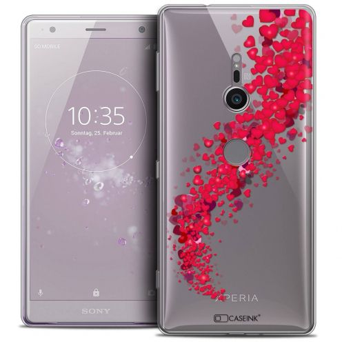 "Extra Slim Crystal Gel Sony Xperia XZ2 (5.7"") Case Love Tornado"