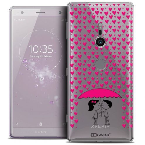 "Extra Slim Crystal Gel Sony Xperia XZ2 (5.7"") Case Love Pluie d'Amour"