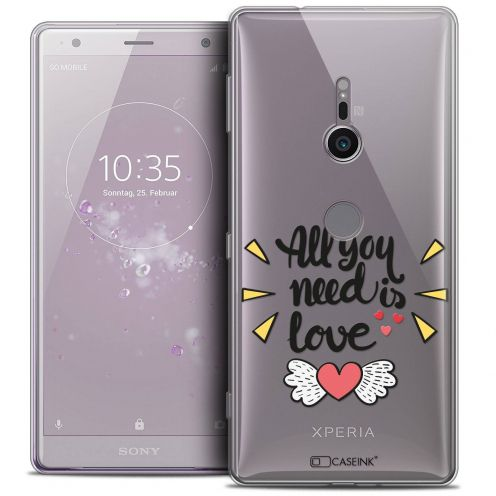 "Coque Crystal Gel Sony Xperia XZ2 (5.7"") Extra Fine Love - All U Need Is"