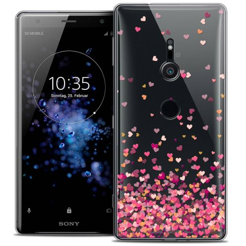 "Coque Crystal Gel Sony Xperia XZ2 (5.7"") Extra Fine Sweetie - Heart Flakes"