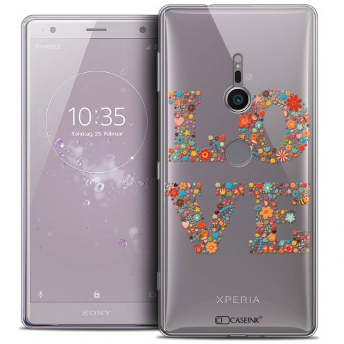 "Extra Slim Crystal Gel Sony Xperia XZ2 (5.7"") Case Summer Love Flowers"