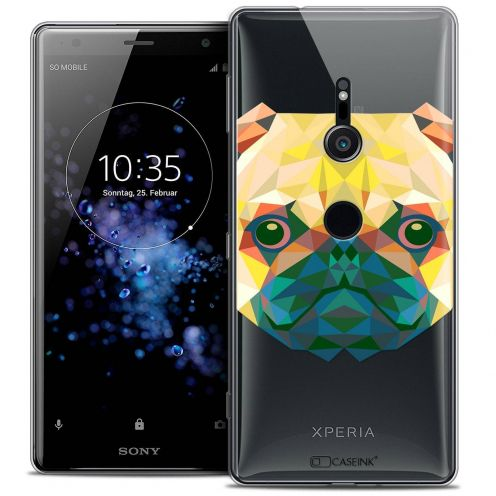 "Extra Slim Crystal Gel Sony Xperia XZ2 (5.7"") Case Polygon Animals Dog"
