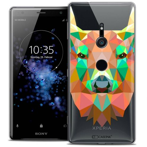 "Extra Slim Crystal Gel Sony Xperia XZ2 (5.7"") Case Polygon Animals Deer"