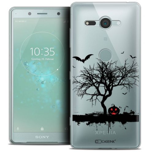 "Extra Slim Crystal Gel Sony Xperia XZ2 Compact (5.0"") Case Halloween Devil's Tree"