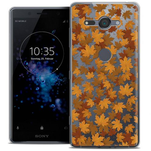 """Extra Slim Crystal Gel Sony Xperia XZ2 Compact (5.0"""") Case Autumn 16 Feuilles"""