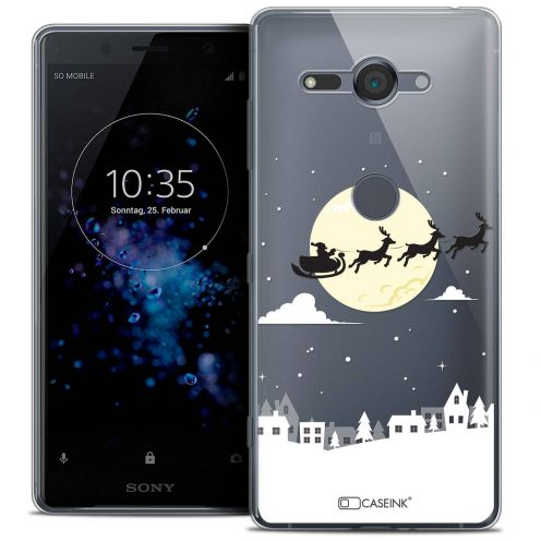 "Coque Crystal Gel Sony Xperia XZ2 Compact (5.0"") Extra Fine Noël 2017 - Flying Stanta"