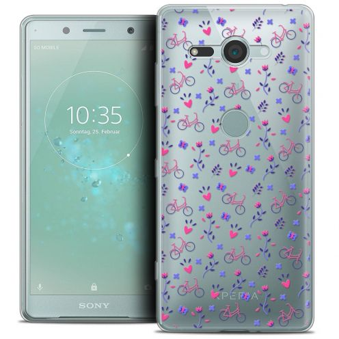 "Extra Slim Crystal Gel Sony Xperia XZ2 Compact (5.0"") Case Love Bicycle"