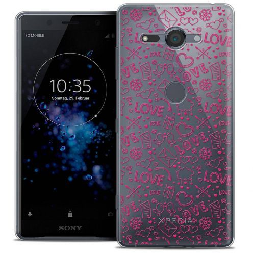 "Coque Crystal Gel Sony Xperia XZ2 Compact (5.0"") Extra Fine Love - Doodle"