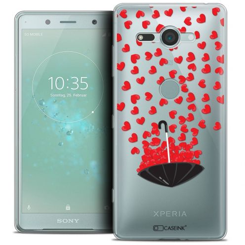 """Extra Slim Crystal Gel Sony Xperia XZ2 Compact (5.0"""") Case Love Parapluie d'Amour"""