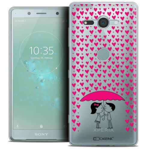 """Extra Slim Crystal Gel Sony Xperia XZ2 Compact (5.0"""") Case Love Pluie d'Amour"""
