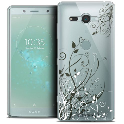 "Coque Crystal Gel Sony Xperia XZ2 Compact (5.0"") Extra Fine Love - Hearts Flowers"