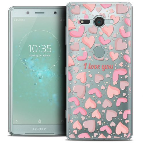"Extra Slim Crystal Gel Sony Xperia XZ2 Compact (5.0"") Case Love I Love You"