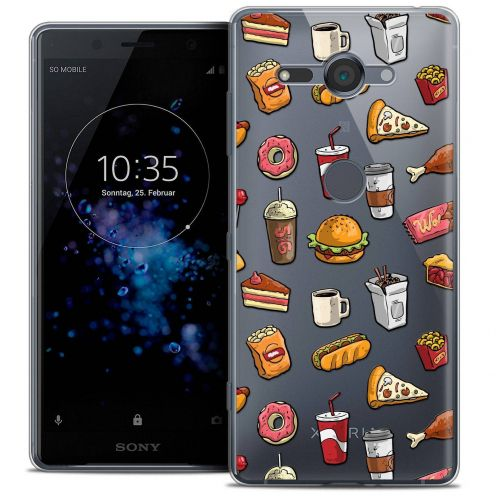 "Extra Slim Crystal Gel Sony Xperia XZ2 Compact (5.0"") Case Foodie Fast Food"