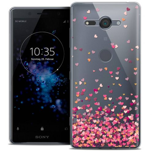 "Coque Crystal Gel Sony Xperia XZ2 Compact (5.0"") Extra Fine Sweetie - Heart Flakes"