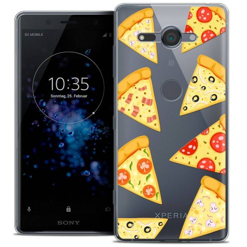 "Extra Slim Crystal Gel Sony Xperia XZ2 Compact (5.0"") Case Foodie Pizza"