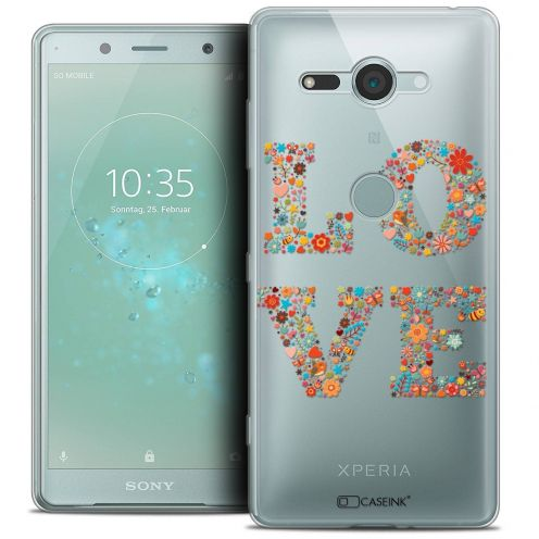 "Extra Slim Crystal Gel Sony Xperia XZ2 Compact (5.0"") Case Summer Love Flowers"