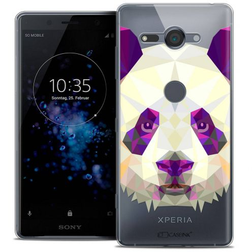 "Extra Slim Crystal Gel Sony Xperia XZ2 Compact (5.0"") Case Polygon Animals Panda"