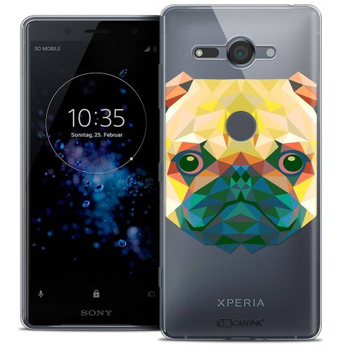 "Coque Crystal Gel Sony Xperia XZ2 Compact (5.0"") Extra Fine Polygon Animals - Chien"