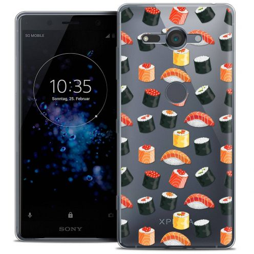 """Extra Slim Crystal Gel Sony Xperia XZ2 Compact (5.0"""") Case Foodie Sushi"""