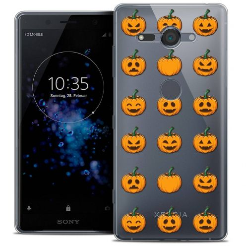 "Coque Crystal Gel Sony Xperia XZ2 Compact (5.0"") Extra Fine Halloween - Smiley Citrouille"
