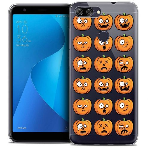 "Extra Slim Crystal Gel Asus Zenfone Max Plus (M1) ZB570TL (5.7"") Case Halloween Cartoon Citrouille"