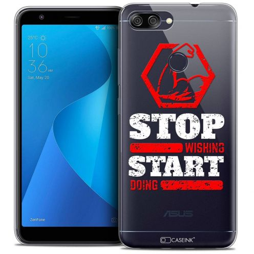 "Coque Crystal Gel Asus Zenfone Max Plus (M1) ZB570TL (5.7"") Extra Fine Quote - Start Doing"